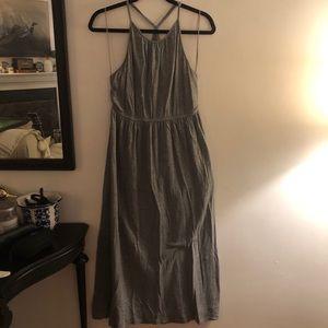 J. Crew Gray Halter Jersey Maxi Dress
